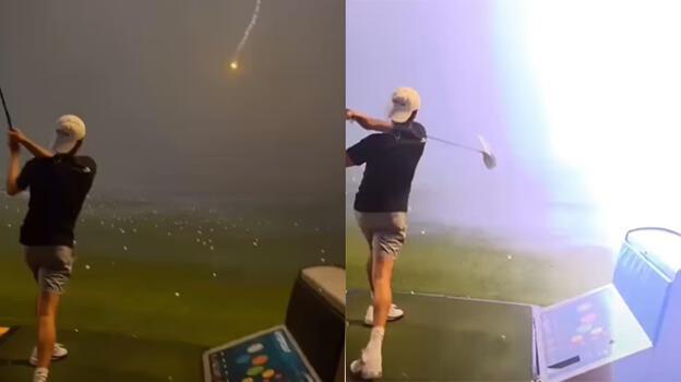 Hayatını golf topu kurtardı! Her şey bir anda oldu