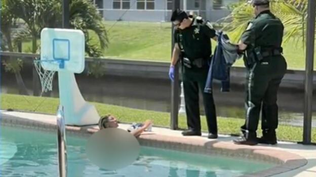 Başkasının havuzuna çırılçıplak girdi! Açıklaması pes dedirtti