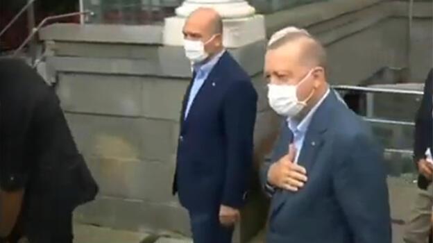 Son dakika: Cumhurbaşkanı Erdoğan, Rize'nin Güneysu ilçesinde