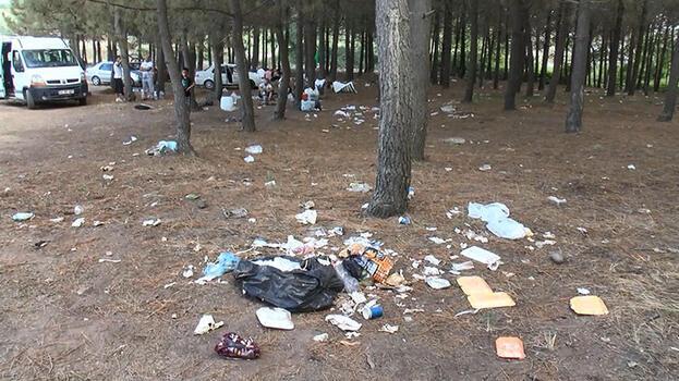 Sarıyer'de İsyan ettiren görüntü! Piknikçiler geriye çöp yığınları kaldı