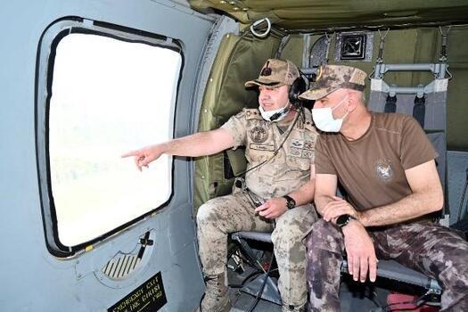 Osmaniye'de helikopter destekli trafik denetimi
