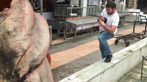 Barajda 130 kilogramlık yayın balığı yakalandı