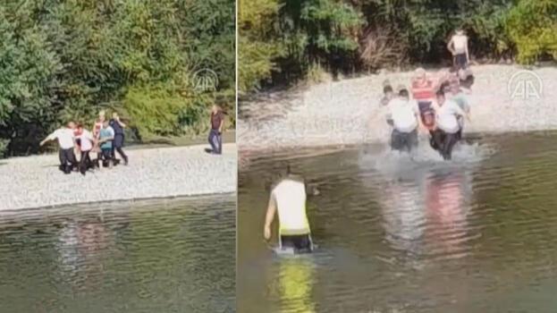 Baba ve 3 çoğunun peşinden suya atladı! Kahreden olay