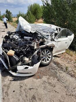 Şarkikaraağaç'ta kaza: 4 yaralı