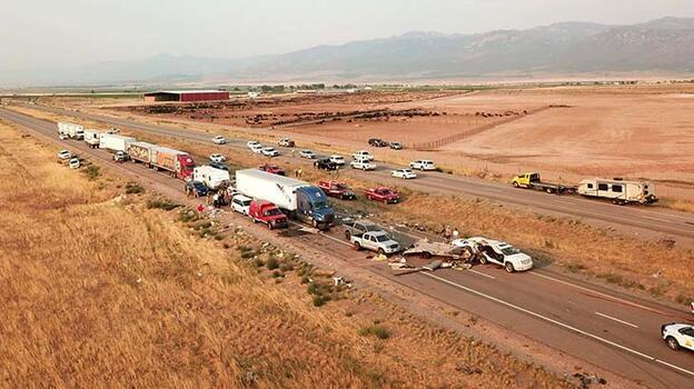 ABD'deki zincirleme kaza! 7 kişi öldü