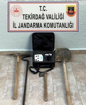 Tekirdağ'da kaçak kazı yapan 5 kişi yakalandı