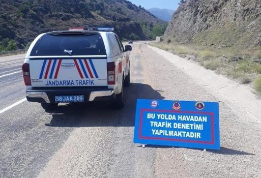 Jandarmadan ehliyetsiz sürücüye 5 bin 396 lira ceza