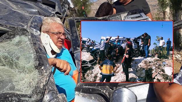 Son dakika... Tatil yolunda can pazarı! 4 kişilik ailenin aracı hurdaya döndü