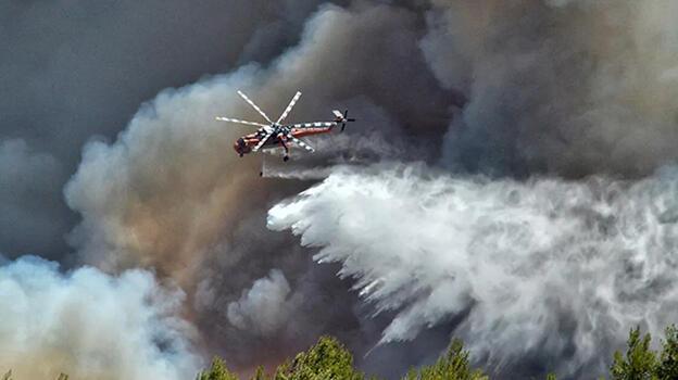 Yunanistan'da orman yangını evlere sokuluyor