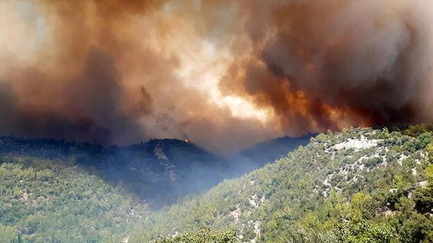 Kızılay yangınla mücadele için afet uzmanlarını Manavgat'a gönderdi