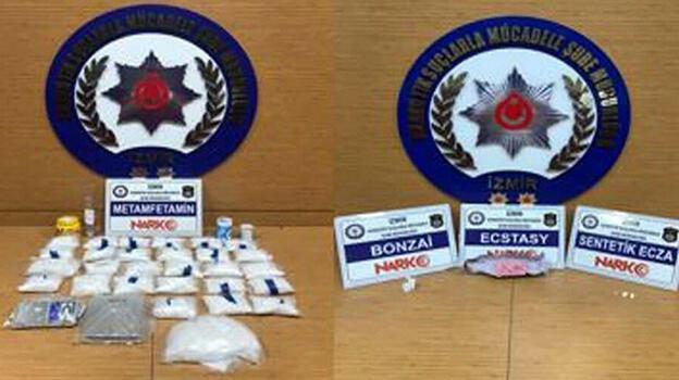 İzmir'de uyuşturucu operasyonlarında 20 tutuklama
