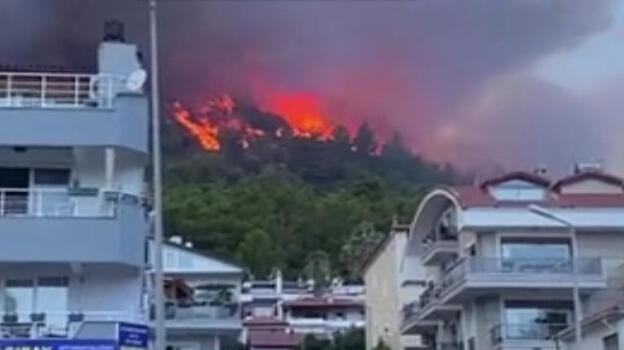 Son dakika! Marmaris'te çıkan orman yangınına müdahale ediliyor