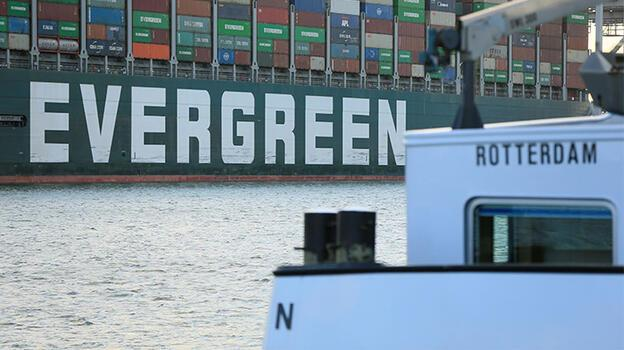 Ever Given gemisi 4 ay sonra Rotterdam'da