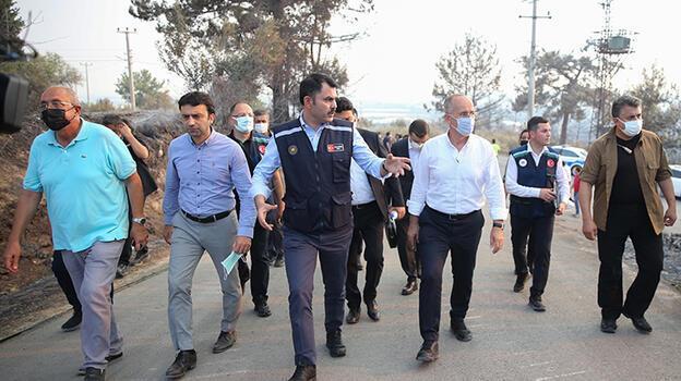 Bakan Kurum, Manavgat'ta incelemede bulundu