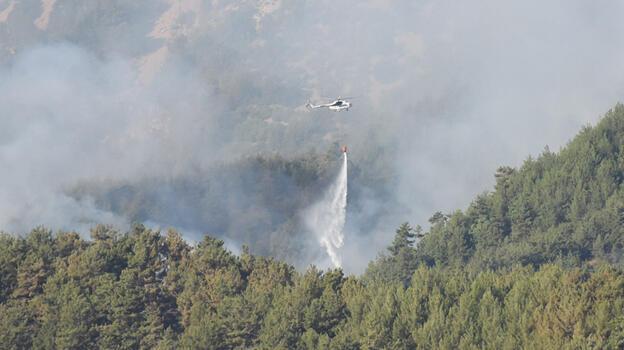 Kozan ve Aladağ'daki orman yangınına müdahale