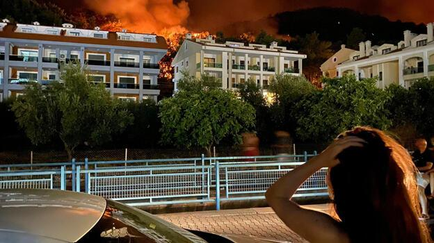 Marmaris'teki orman yangınında 2'nci gün; 1 ölü