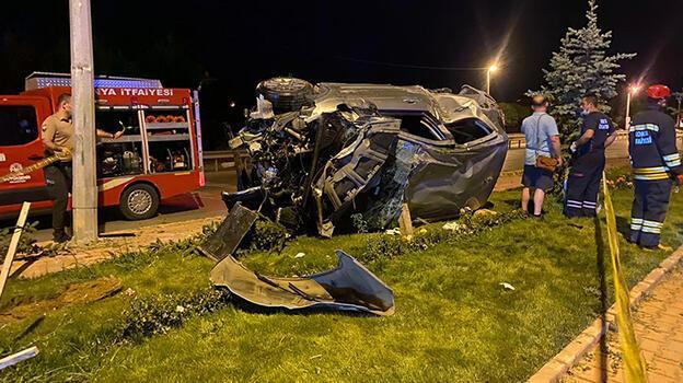 Konya'da otomobil devrildi: 6 yaralı