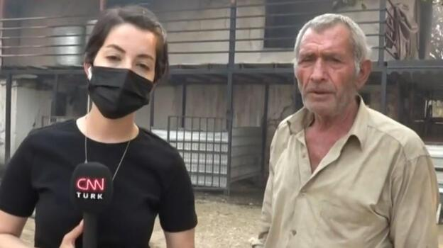 Manavgat'taki yangın! Yaşadıklarını gözyaşları içinde anlattı!