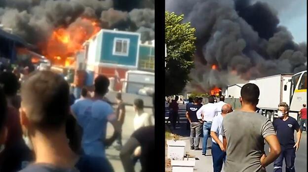 Son dakika... Tarsus'ta fabrika yangını