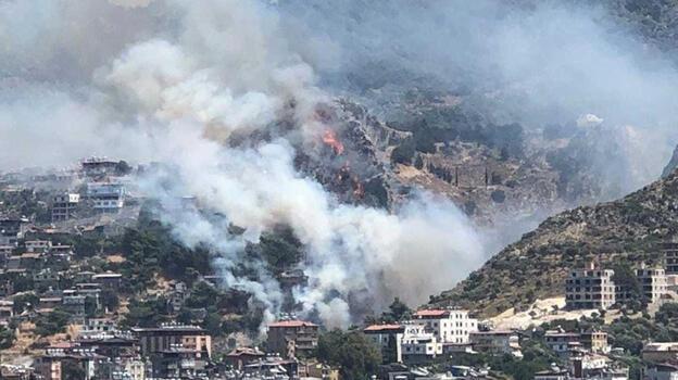 Hatay'ın Antakya ilçesinde orman yangını! Ekipler bölgede...