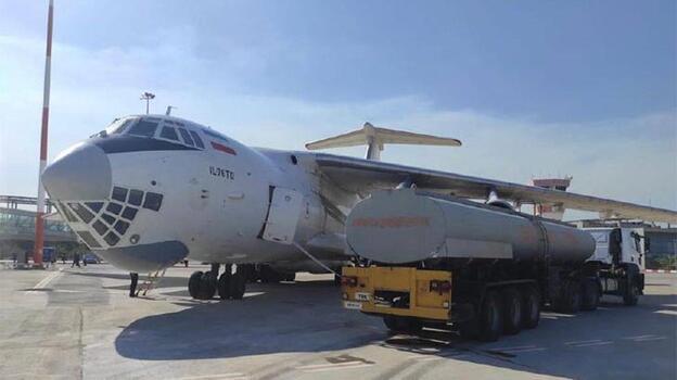 İran'dan gelen yangın söndürme uçağına su ikmali yapıldı