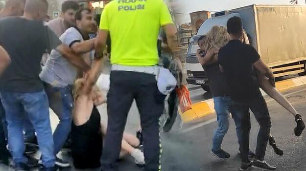 Taksim Meydanı karıştı! Kadınlar birbirine girdi