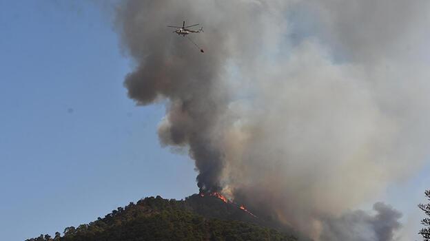 Marmaris'teki yangında 4'üncü gün! Alevler Hisarönü ve Orhaniye'de yoğunlaştı