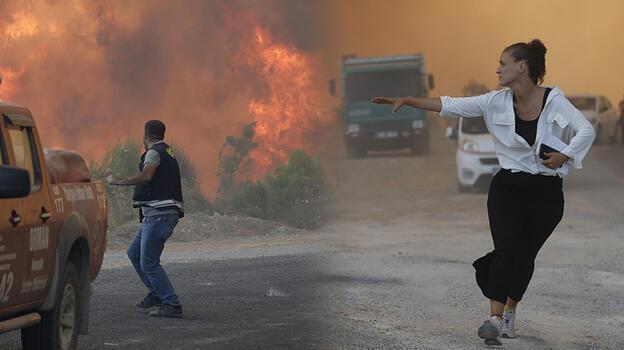 Manavgat'tan sıcak görüntü! Alevler yükseldi