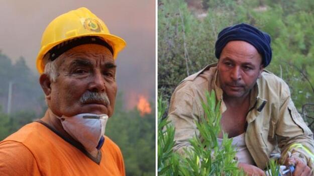 Manavgat'taki yangında yaşamını yitiren 2 orman işçisi için tören düzenlendi