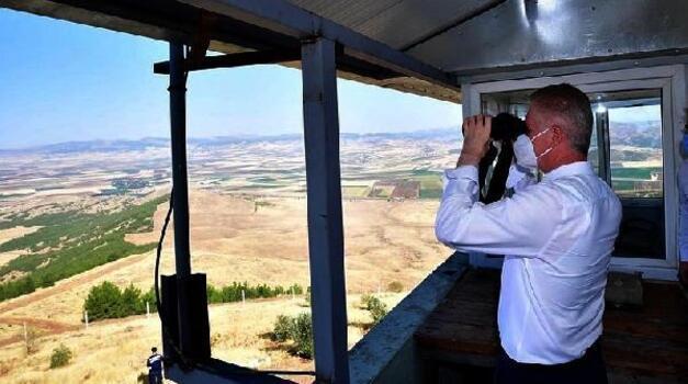 Vali Gül, yangın gözetleme kulesini inceledi