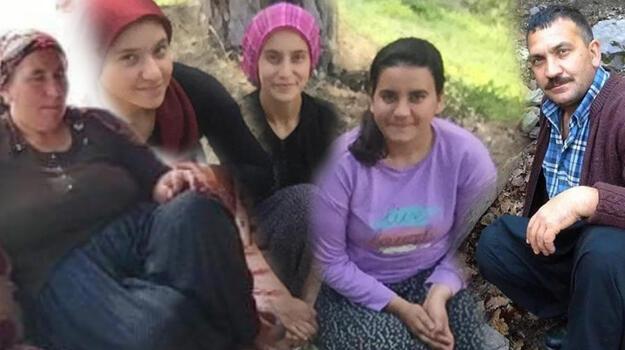 Düğüne giderken ölen çift ve üç kızı yan yana toprağa verildi
