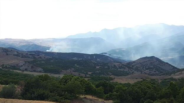 Tunceli'de çıkan örtü yangını kontrol altına alındı