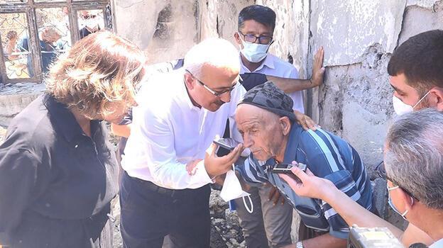 88 yaşındaki yangın mağduru, Cumhurbaşkanı Erdoğan ile telefonda görüştü