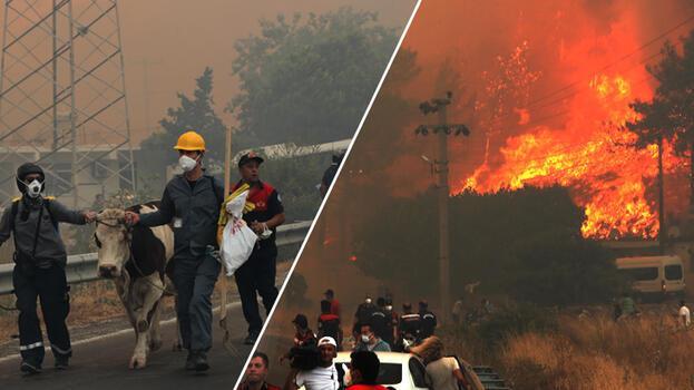 Son dakika haberi... Yangın kabusu 6. gününde! Korkunç görüntüler geliyor