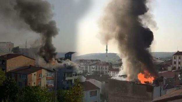 Arnavutköy'de korkutan yangın!