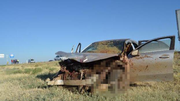 Otomobil, koyun sürüsüne daldı! Çoban öldü, 2 kişi yaralandı