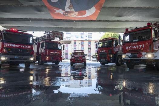 Mersin'den yangınla mücadele eden Muğla ve Antalya'ya destek
