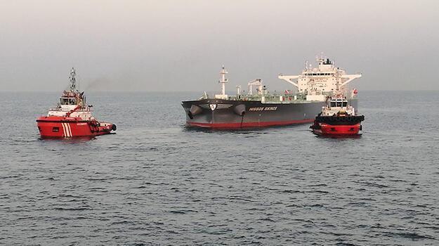 Ambarlı açıklarında 274 metrelik tanker arızalandı!