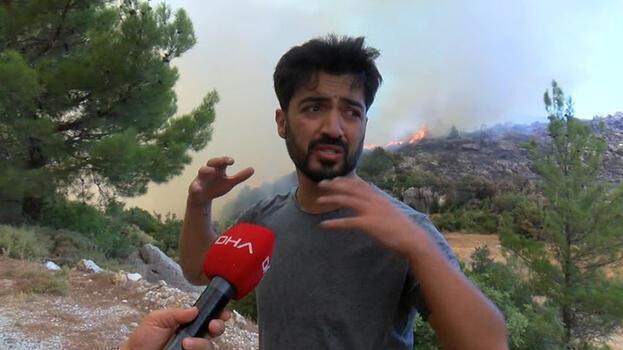 Yangın bölgesinde hareketli dakikalar! Şarkıcı Yusuf Güney gözaltına alındı