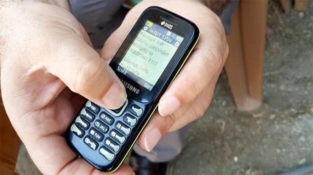 Ve başladı! Manavgat'ta telefonlara mesaj geliyor