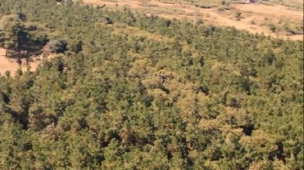 Kocaeli polisi ormanlık alanları drone ile denetliyor