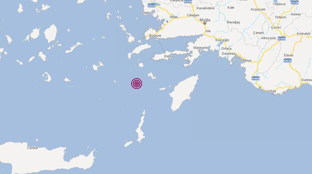 Son dakika... Muğla'nın Datça açıklarında 4 büyüklüğünde deprem!