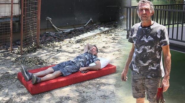 İki kez ölümden döndü! Yangından kaçarken nehirde boğuluyordum