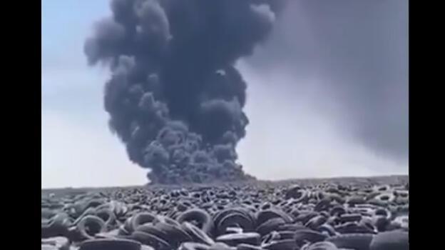 Dünyanın en büyüğü yanıyor! Uydudan da görüldü...