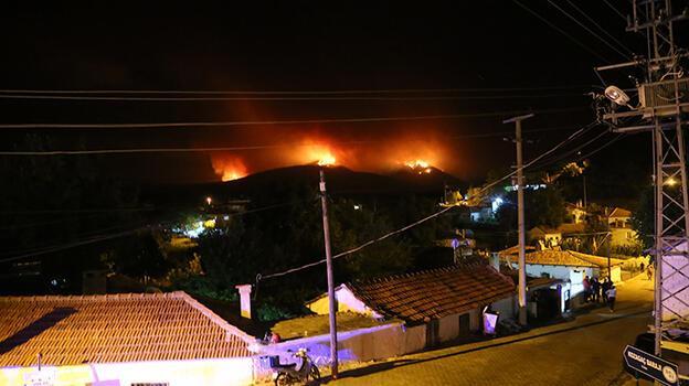 Kavaklıdere ilçesindeki orman yangını Menteşe'ye ulaştı