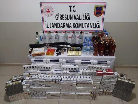 Giresun'da sahte içki imalathanesine baskın