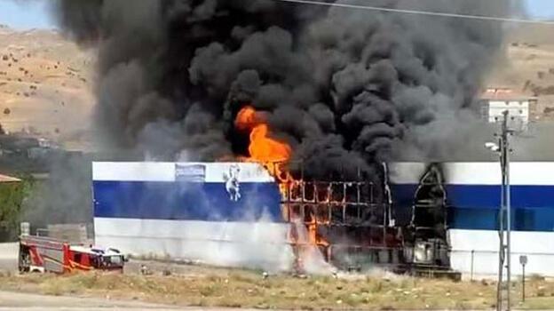 Ankara'da ayran fabrikasında yangın