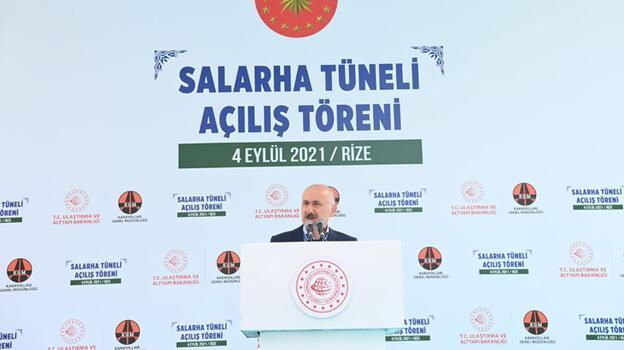Bakan Karaismailoğlu, Salarha Tüneli Açılış Töreni'nde konuştu
