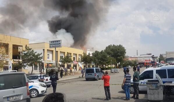 Son dakika! Ankara'da iş merkezinde yangın