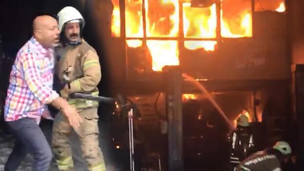 Son dakika... Şişli'de iki otomobil tamirhanesinde yangın!